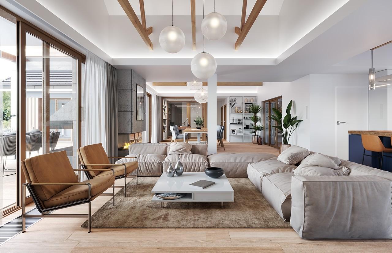 Projekt domu Hanka - wizualizacja wnętrza