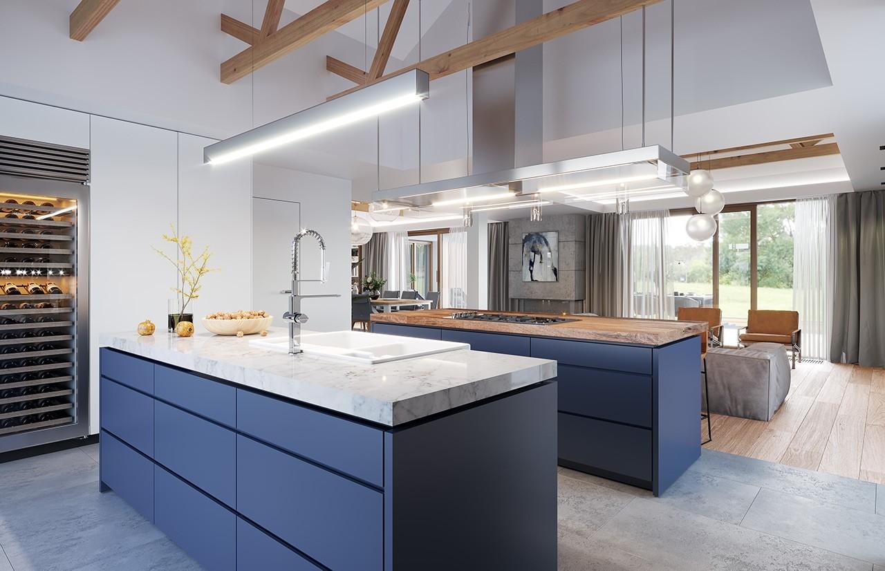 Projekt domu Hanka 2 - wizualizacja wnętrza odbicie lustrzane