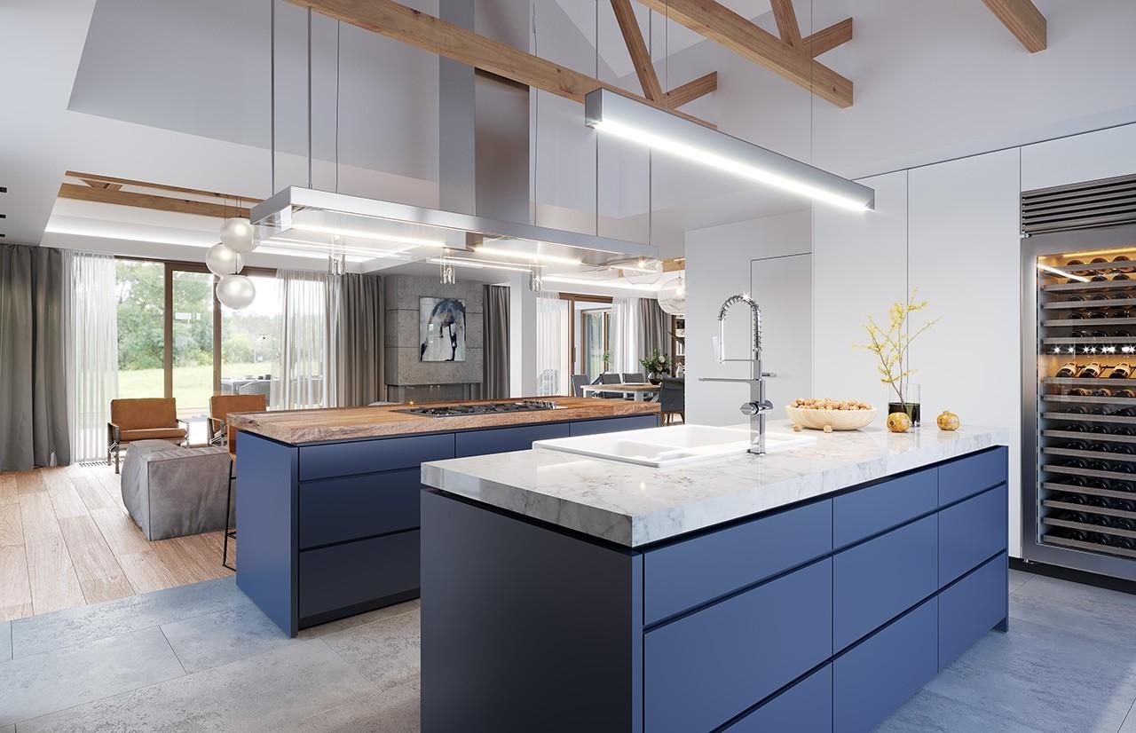 Projekt domu Hanka 3 - wizualizacja wnętrza