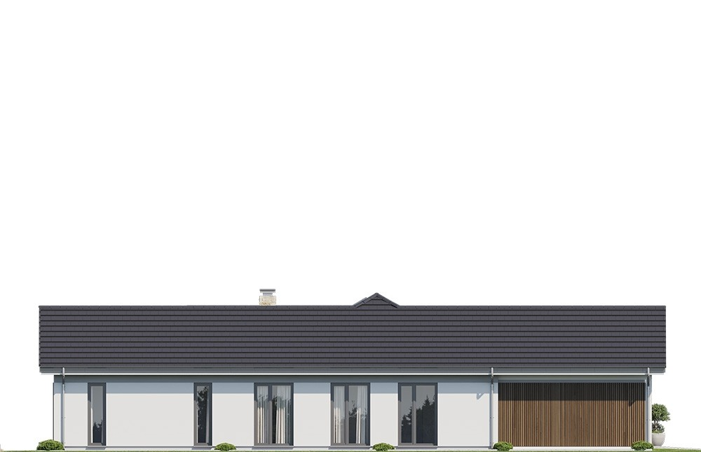 Projekt domu Hanka 3 - elewacja odbicie lustrzane