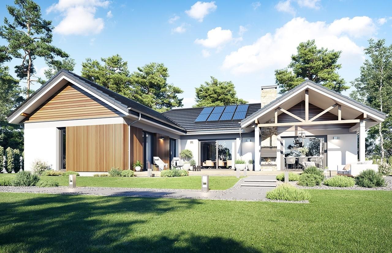 Projekt domu Hanka 3 - wizualizacja ogrodowa 2