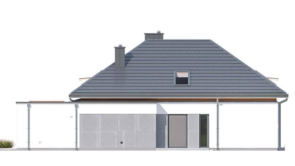 Projekt domu Hiacynt - elewacja odbicie lustrzane