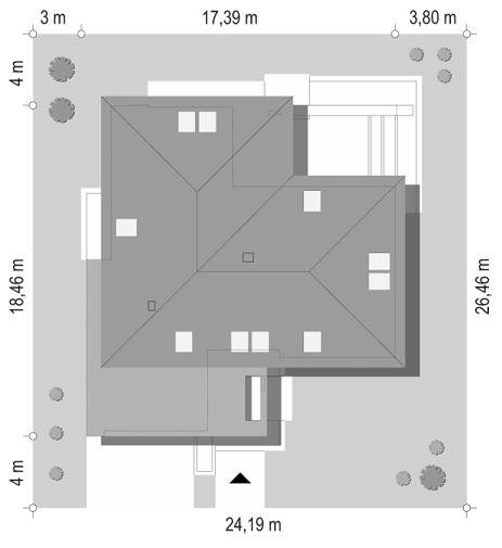 Projekt domu Hiacynt - sytuacja