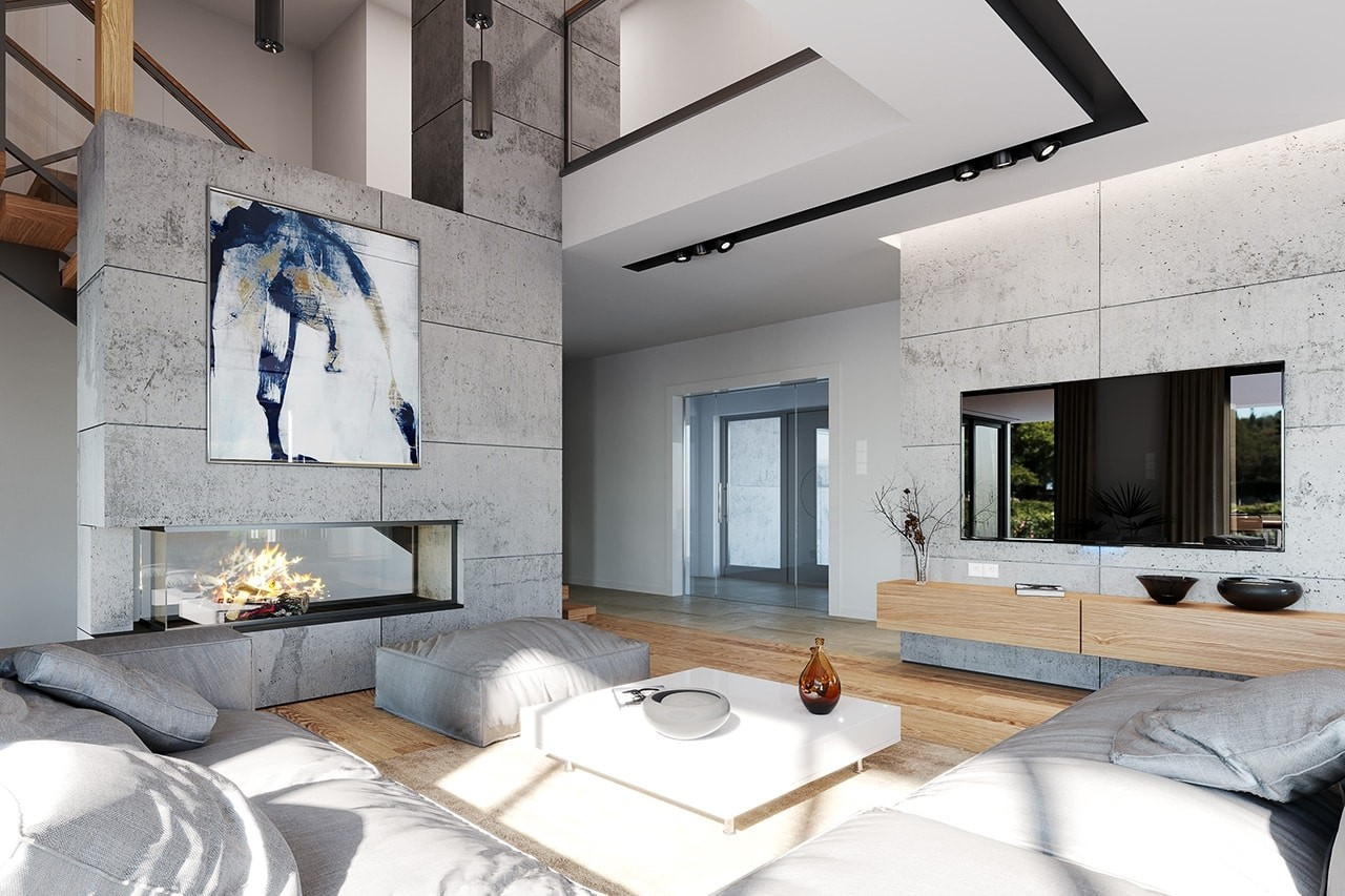 Wnętrze domu Hiacynt odbicie lustrzane