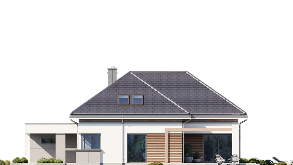Projekt domu Hiacynt 3 - elewacja