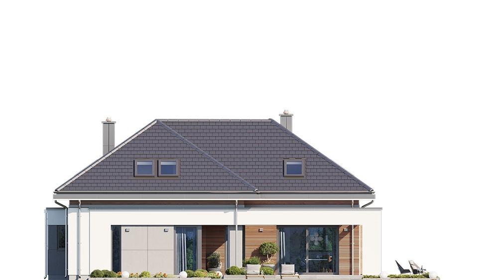 Projekt domu Hiacynt 3 - elewacja odbicie lustrzane