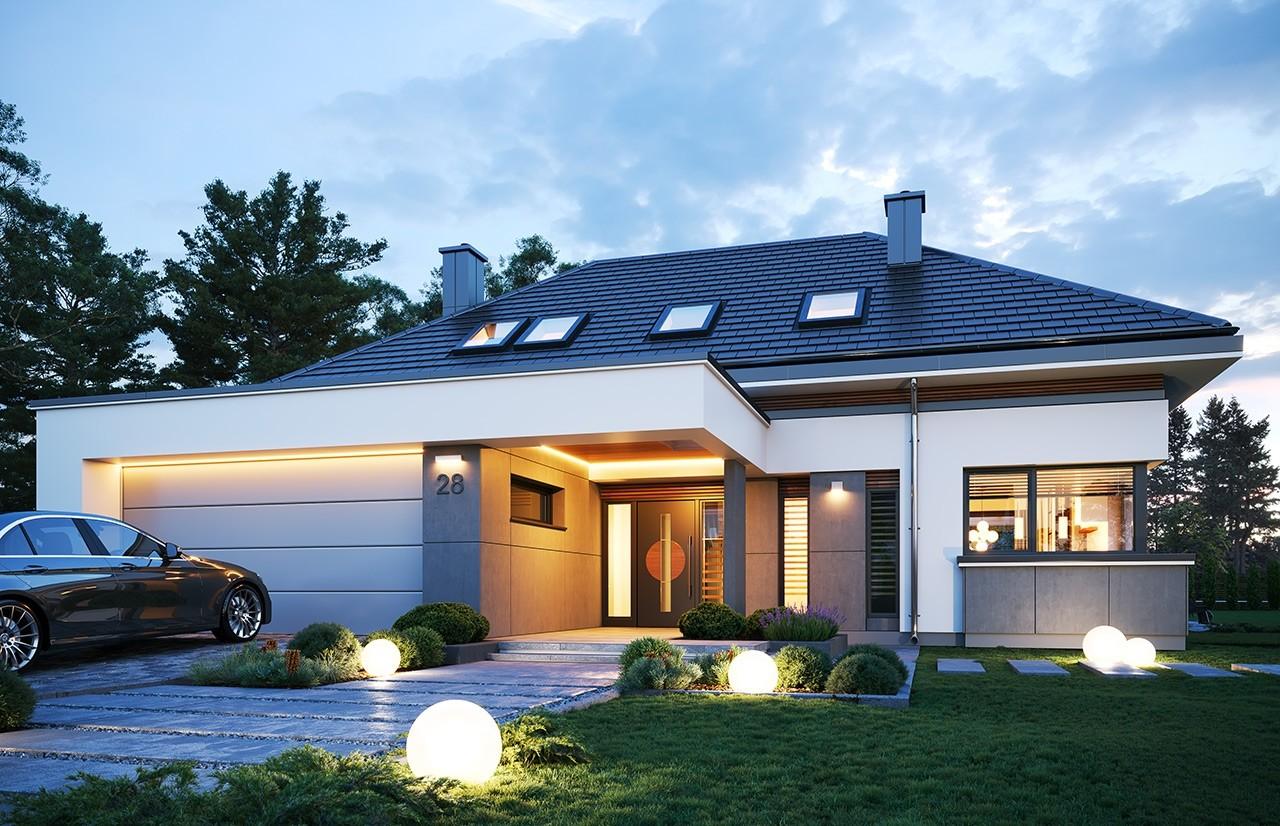 Projekt domu Hiacynt 3 - wizualizacja frontu