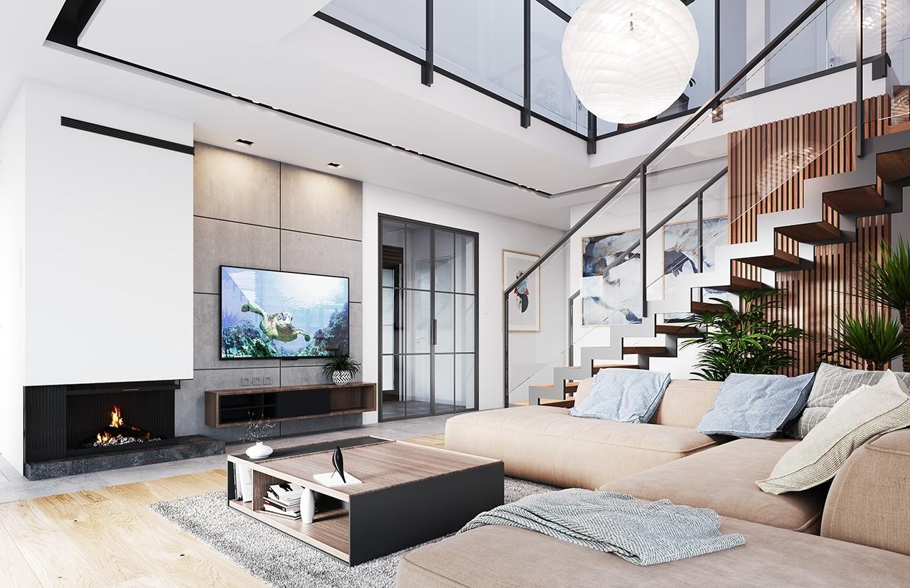 Projekt domu Hiacynt 3 - wizualizacja wnętrza