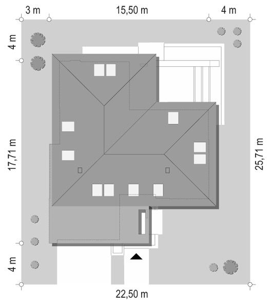 Projekt domu Hiacynt 4 - sytuacja