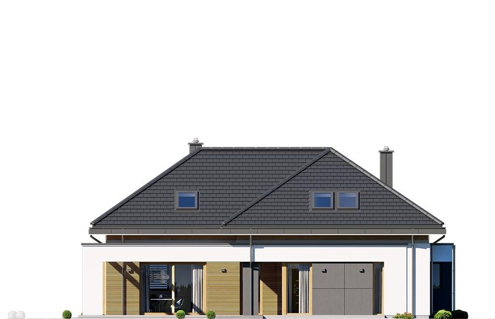 Projekt domu Hiacynt 4 - elewacja