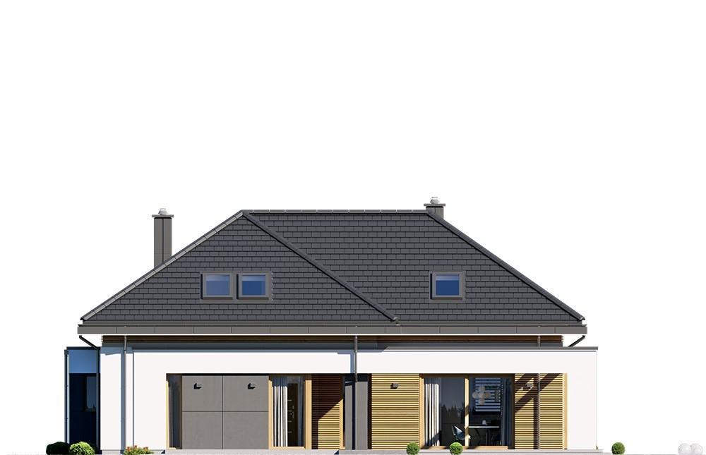 Projekt domu Hiacynt 4 - elewacja odbicie lustrzane