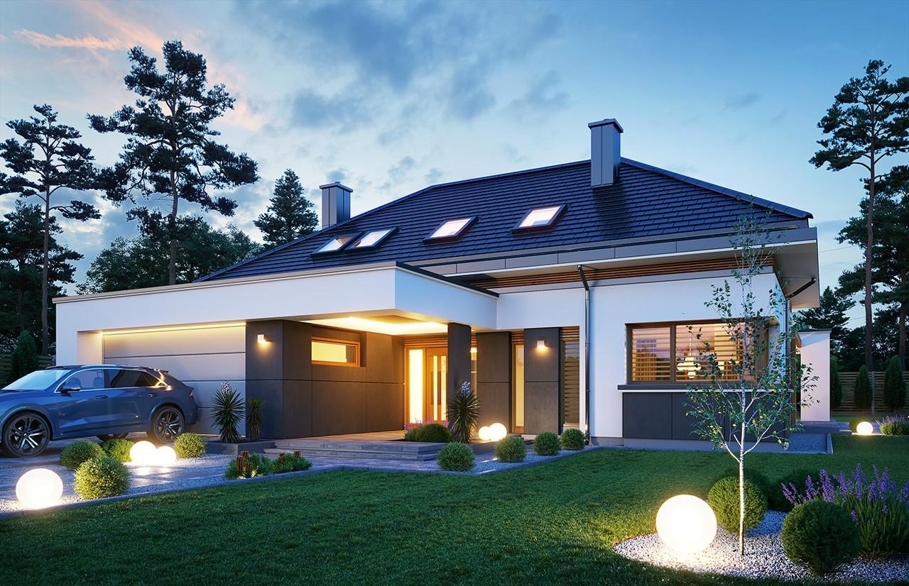 Projekt domu Hiacynt 4 - wizualizacja frontu