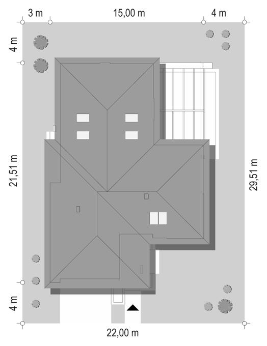 Projekt domu Hiacynt 5 - sytuacja