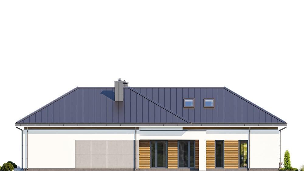 Projekt domu Hiacynt 5 - elewacja odbicie lustrzane
