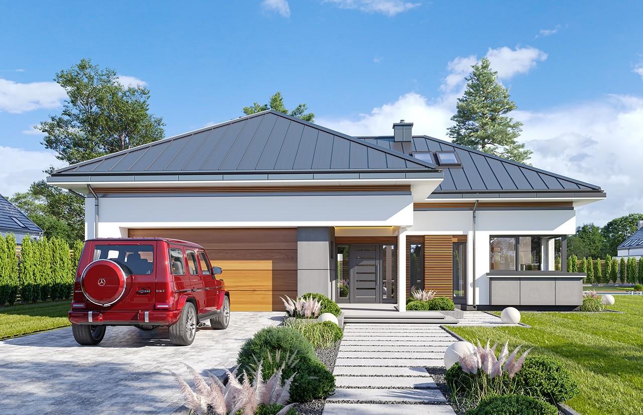 Projekt domu Hiacynt 5 - wizualizacja frontu