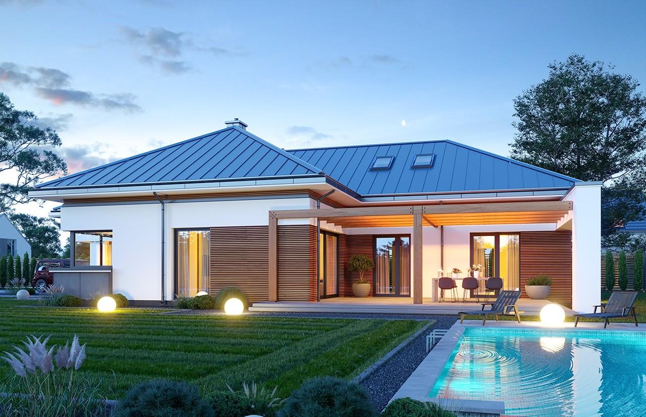 Projekt domu Hiacynt 5 - wizualizacja ogrodowa