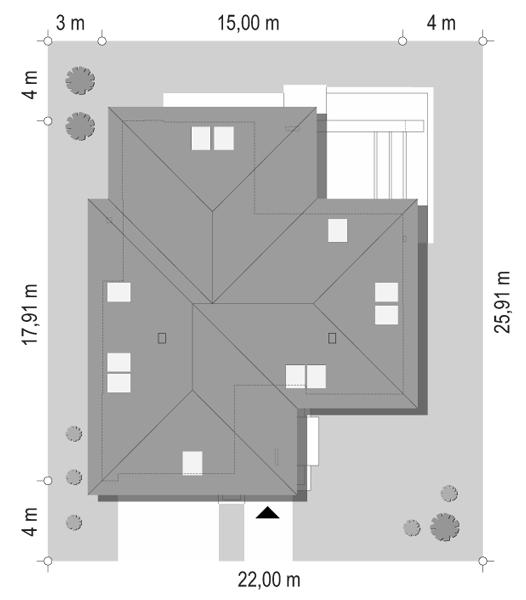Projekt domu Hiacynt 6 - sytuacja