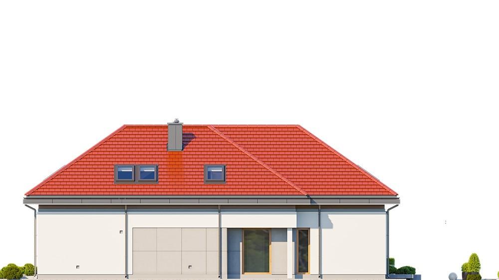 Projekt domu Hiacynt 6 - elewacja odbicie lustrzane