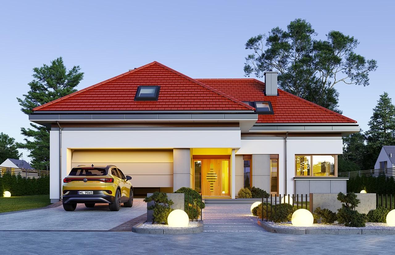 Projekt domu Hiacynt 6 - wizualizacja frontu