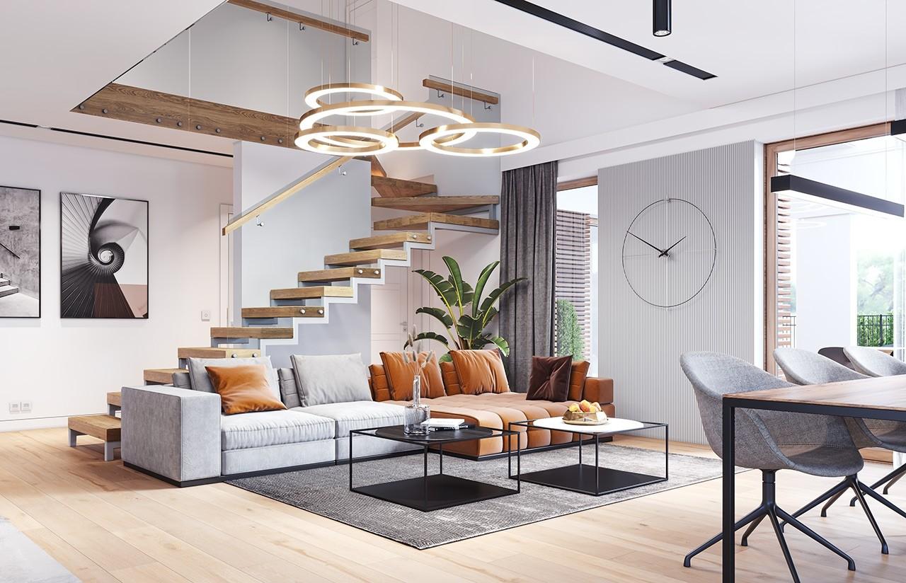 Projekt domu Hiacynt 6 - wizualizacja wnętrza