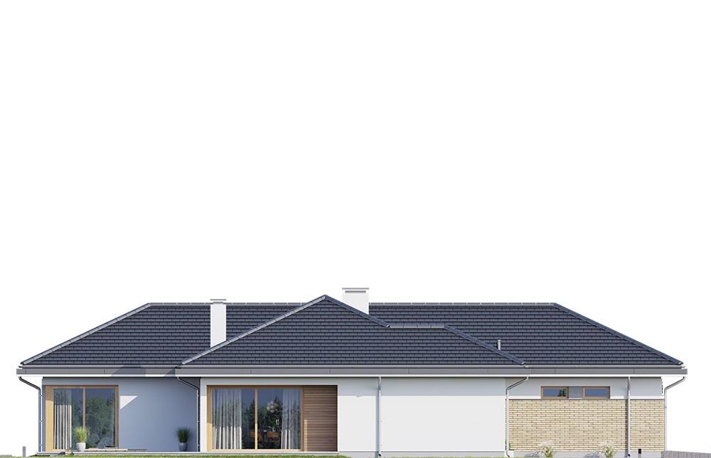 Projekt domu Jedyny B - elewacja odbicie lustrzane