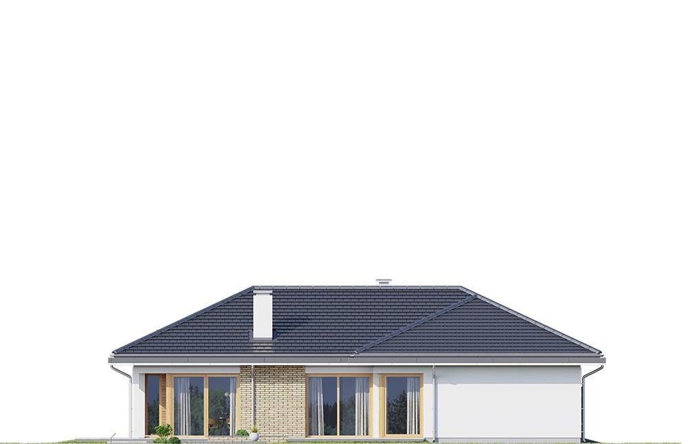 Projekt domu Jedyny B - elewacja