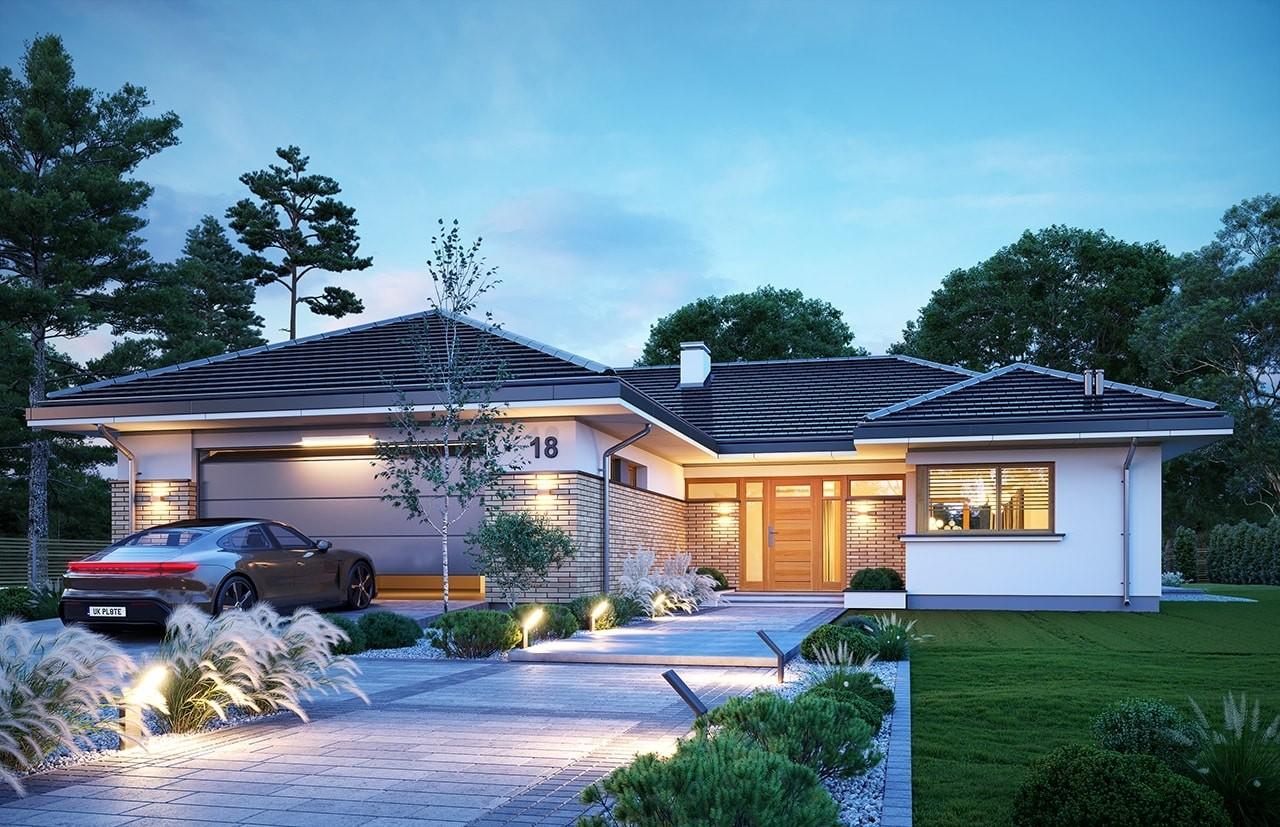 Projekt domu Jedyny B - wizualizacja frontu