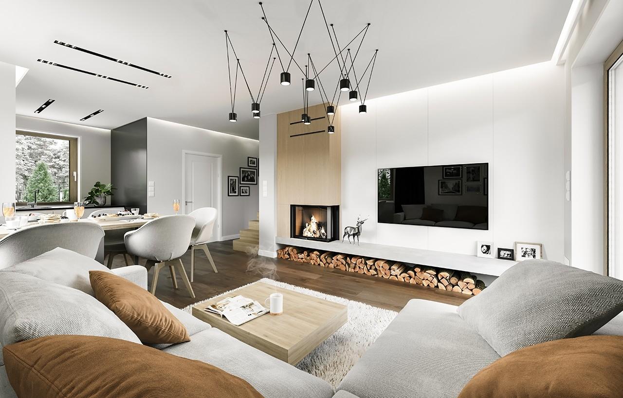 Projekt domu Kajtek - wizualizacja wnętrza