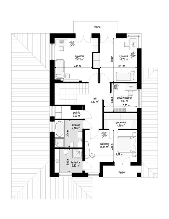 Kasjopea 7 B - rzut piętra