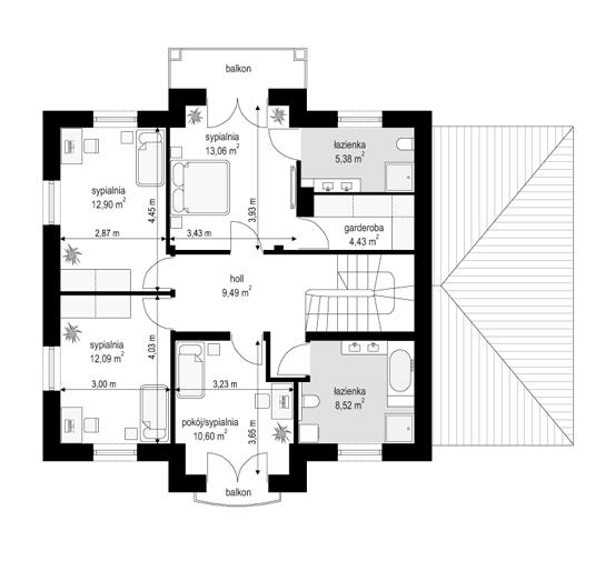 Magnat 2 - rzut piętra odbicie lustrzane