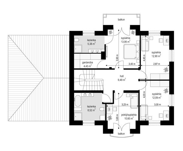 Magnat 4 - rzut piętra