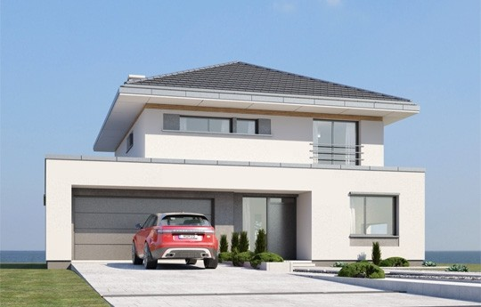 Projekt domu Orkan - wizualizacja frontowa