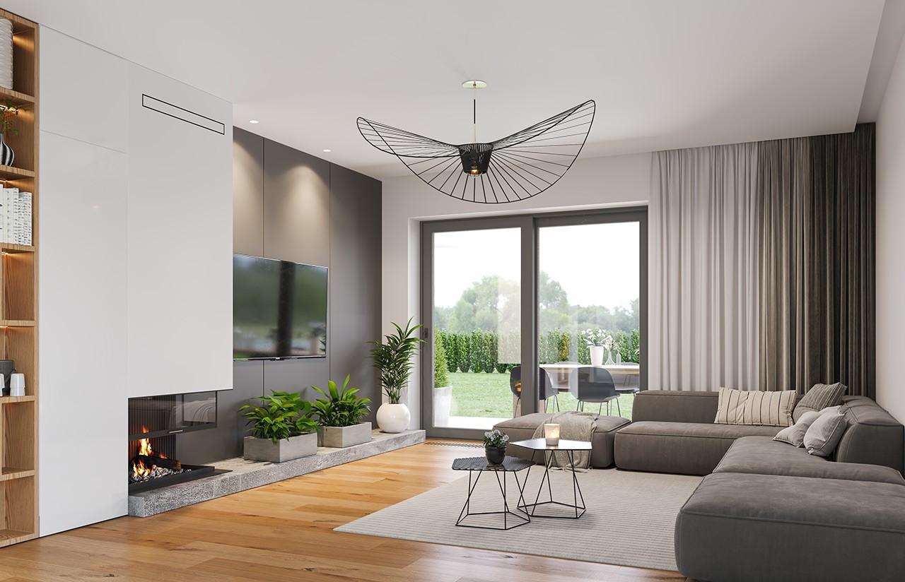 Projekt domu Orkan B - wizualizacja wnętrza