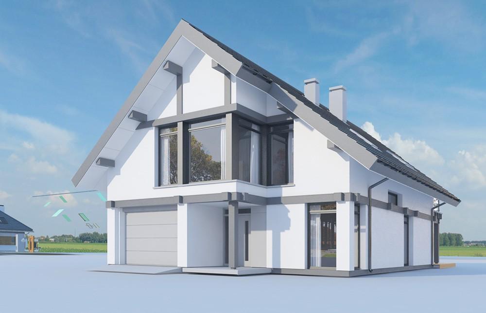 Projekt domu Otwarty 5 - wizualizacja
