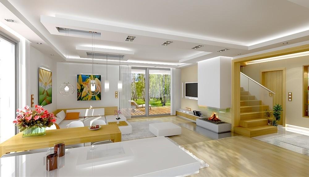 Wizualizacja wnętrza Projekt domu Party C odbicie lustrzane