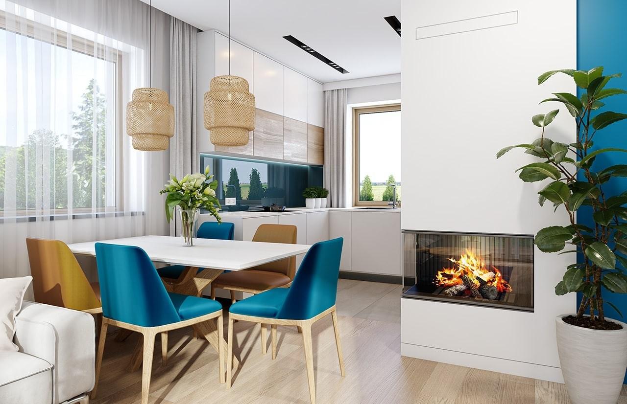 Projekt domu Sensowny 2 - wizualizacja wnętrza odbicie lustrzane
