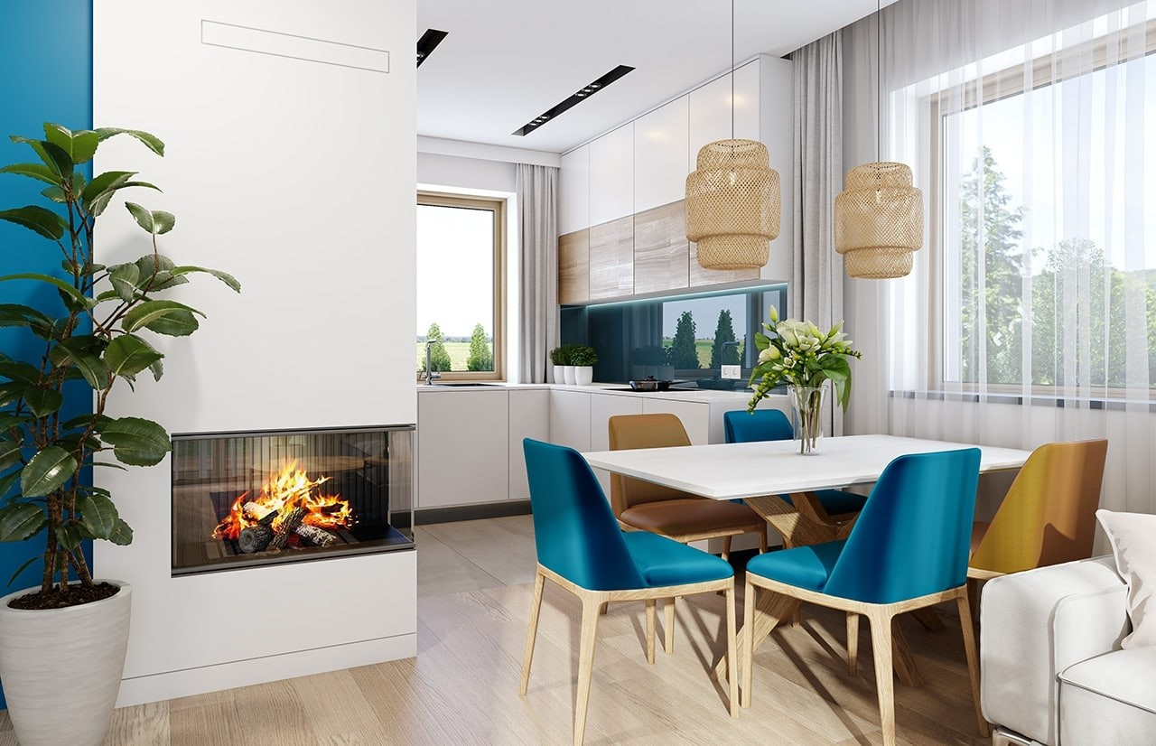 Projekt domu Sensowny 3 B - wizualizacja wnętrza