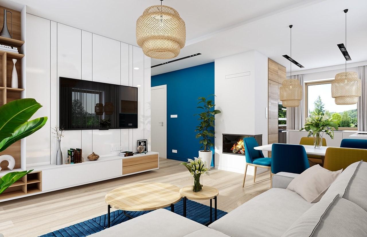 Projekt domu Sensowny 2 - wizualizacja wnętrza