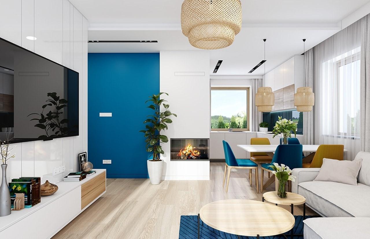 Projekt domu Sensowny 3 - wizualizacja wnętrza