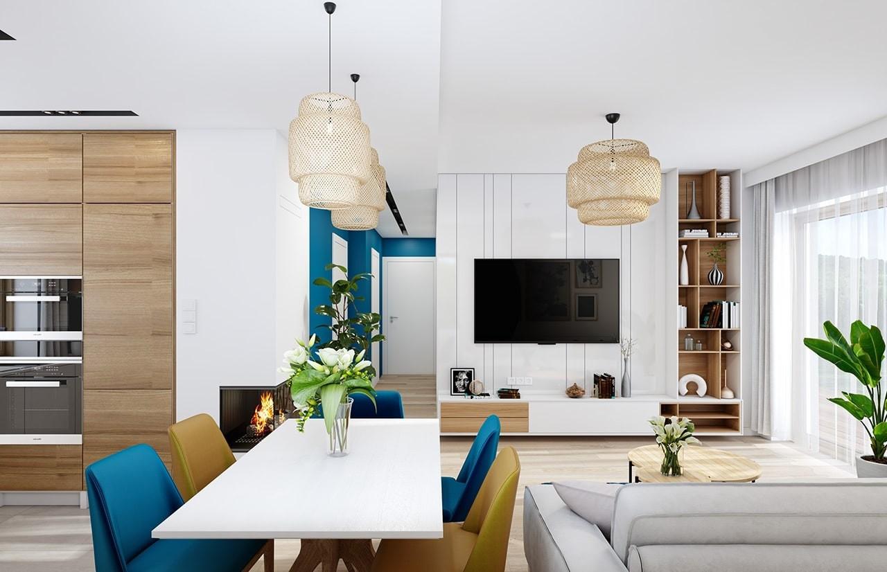 Projekt domu Sensowny - wizualizacja wnętrza odbicie lustrzane