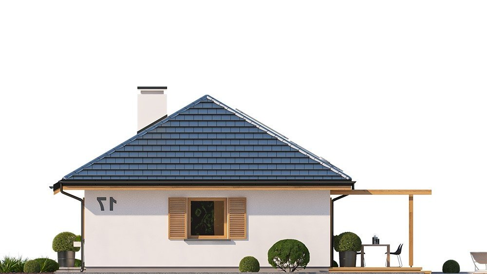 Projekt domu Sensowny 3 - elewacja odbicie lustrzane
