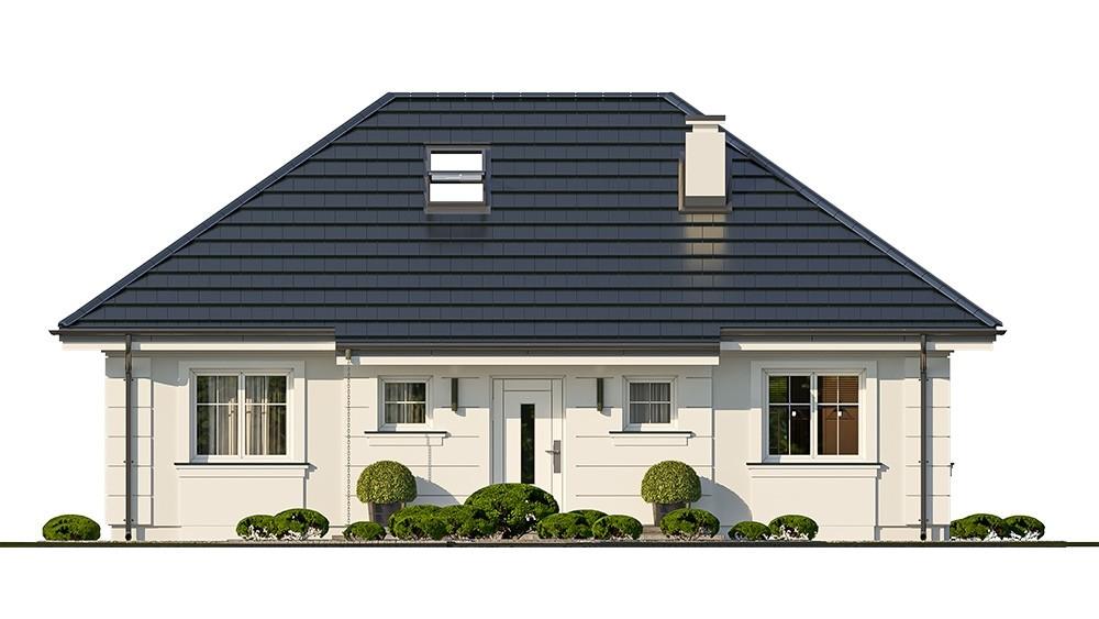 Projekt domu Sensowny 4 - elewacja odbicie lustrzane