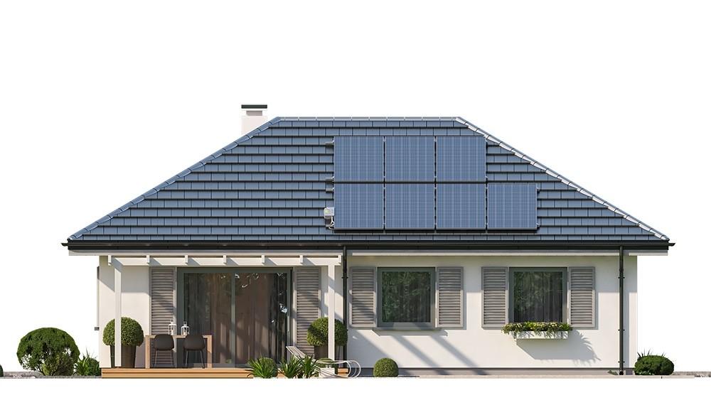 Projekt domu Sensowny 3 B - elewacja odbicie lustrzane