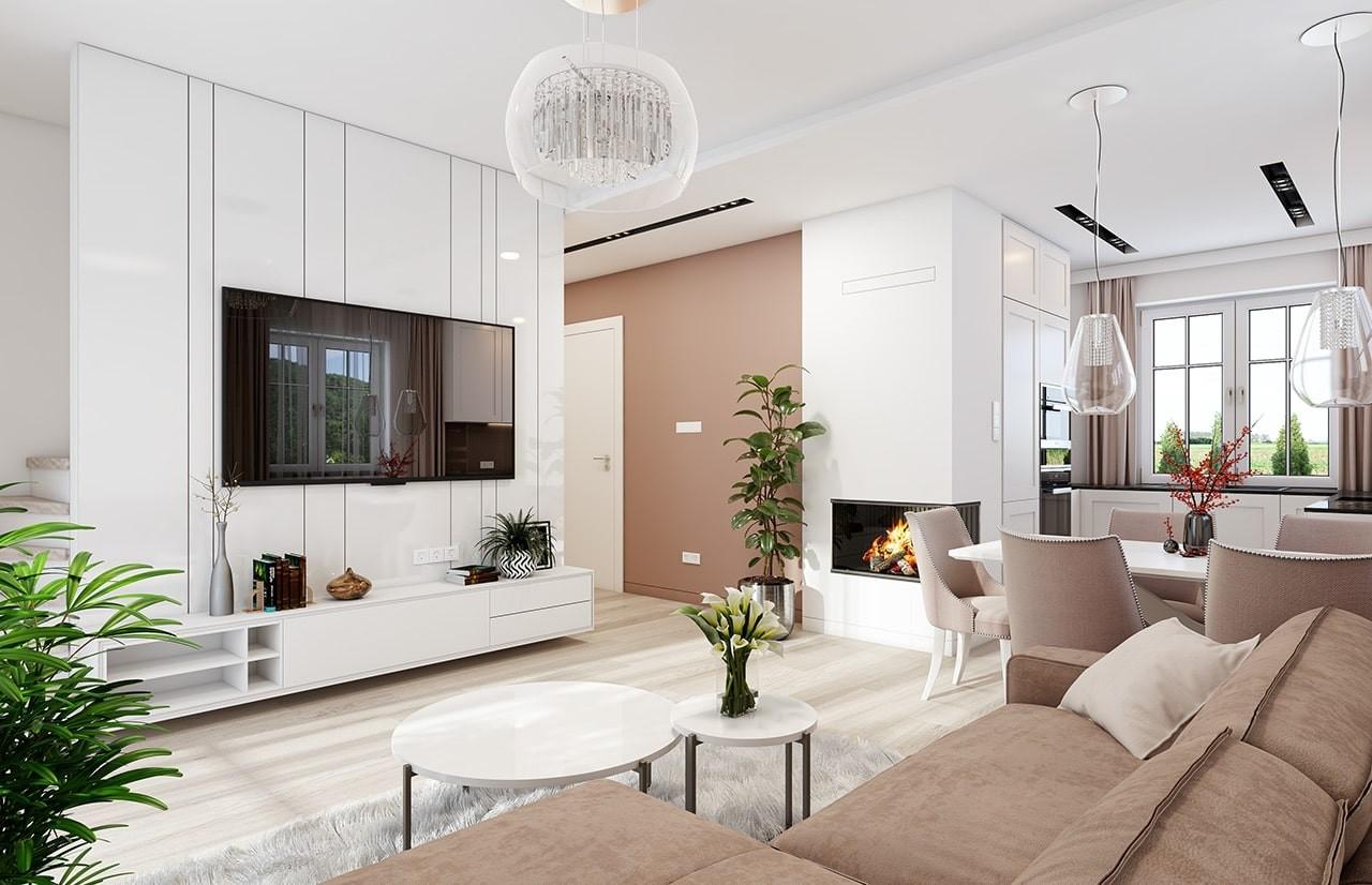 Projekt domu Sensowny 4 - wizualizacja wnętrza