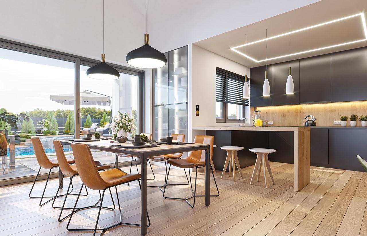 Projekt domu Sielanka 3 wizualizacja wnętrza odbicie lustrzane