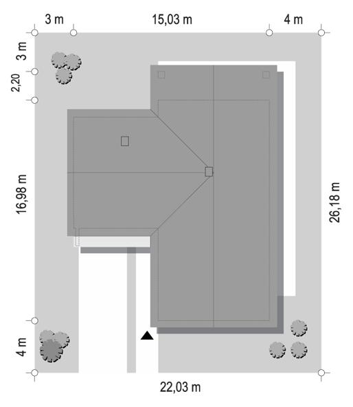 Projekt domu Sielanka 2 B - sytuacja