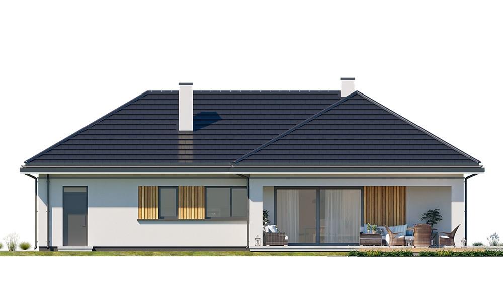 Projekt domu Sielanka 3 - elewacja odbicie lustrzane