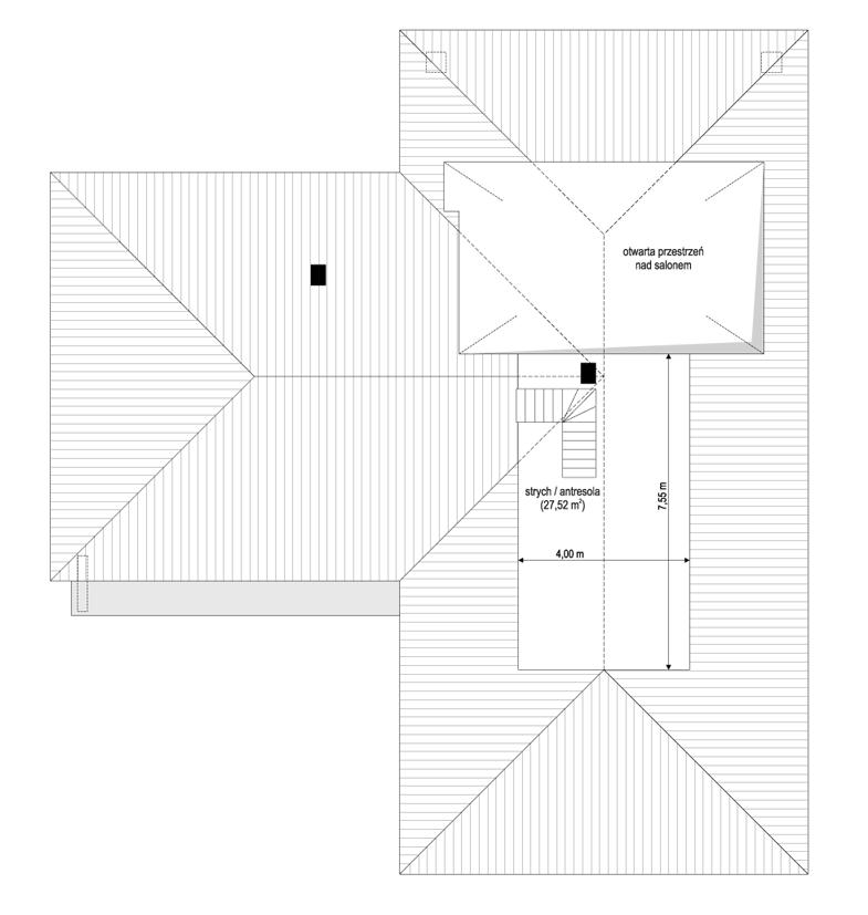 Projekt domu Sielanka 3 - rzut strychu