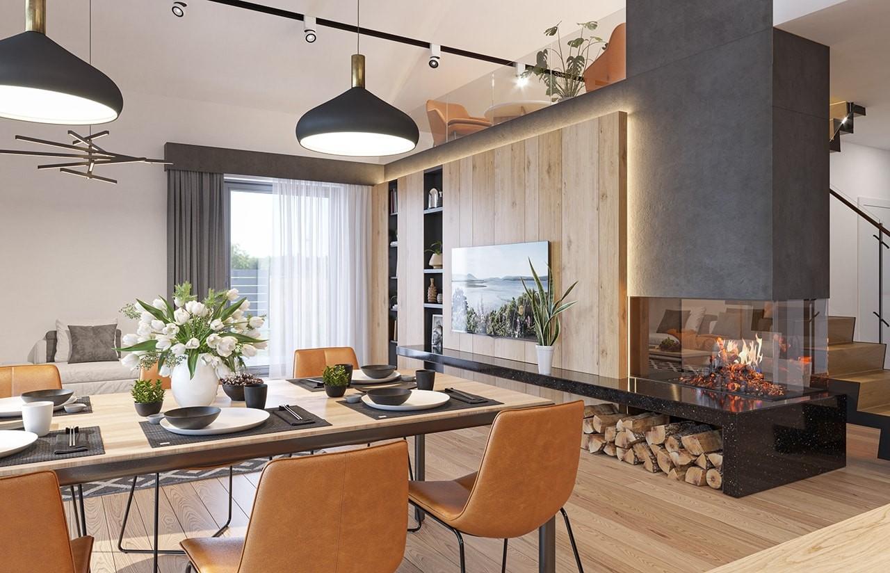 Projekt domu Sielanka 3 wizualizacja wnętrza