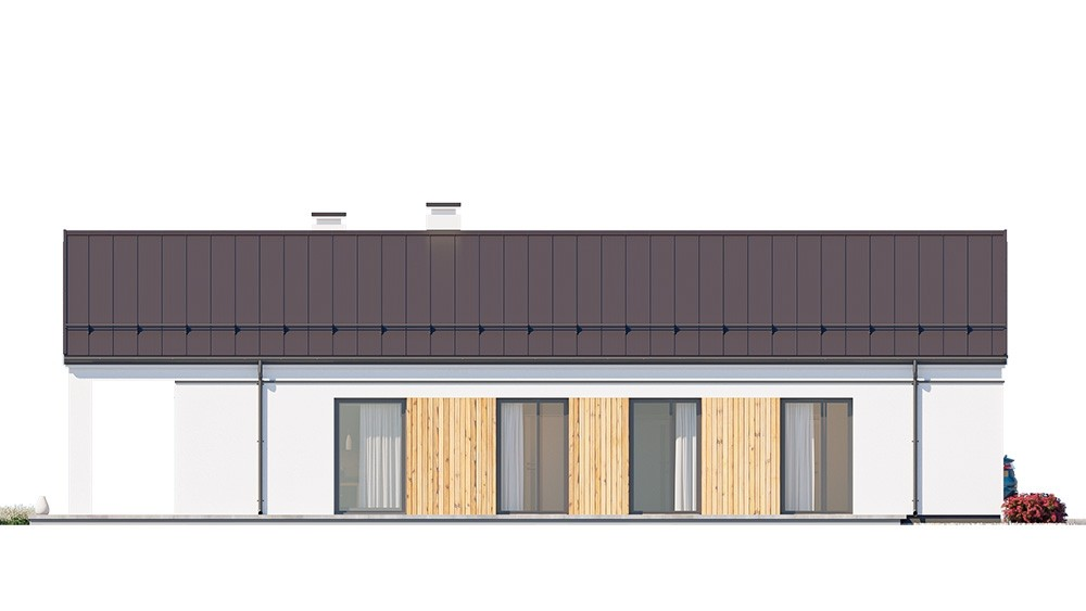 Projekt domu Sielanka 4 - elewacja odbicie lustrzane